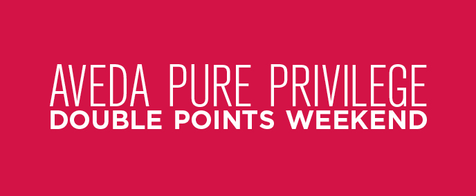 EARN DOUBLE POINTS – THIS WEEKEND ONLY!