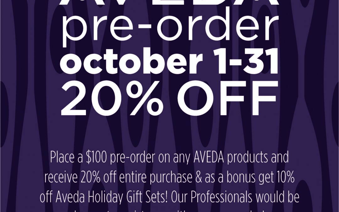 20% Off AVEDA