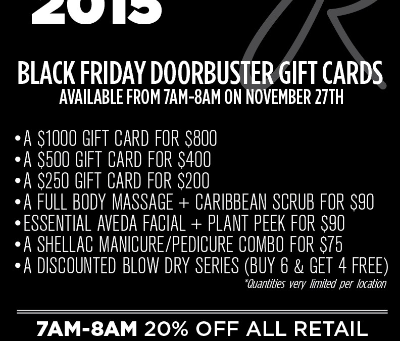 Black Friday Doorbuster Gift Cards