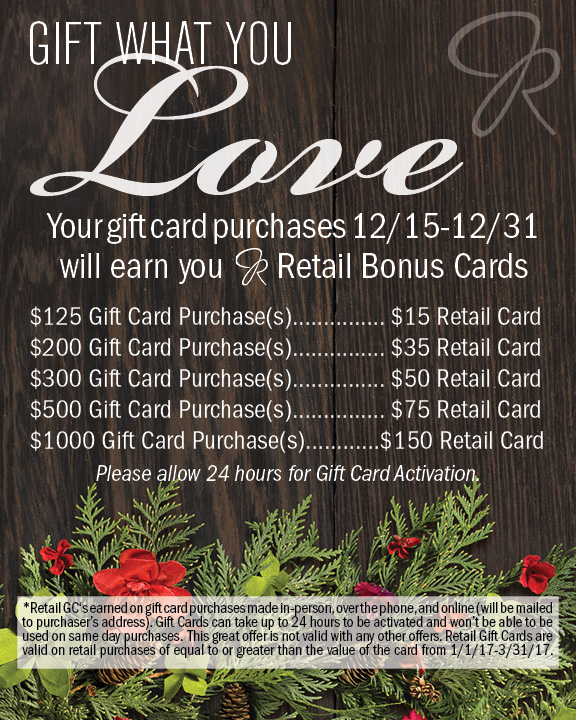 Free Aveda on Gift Card Purchases