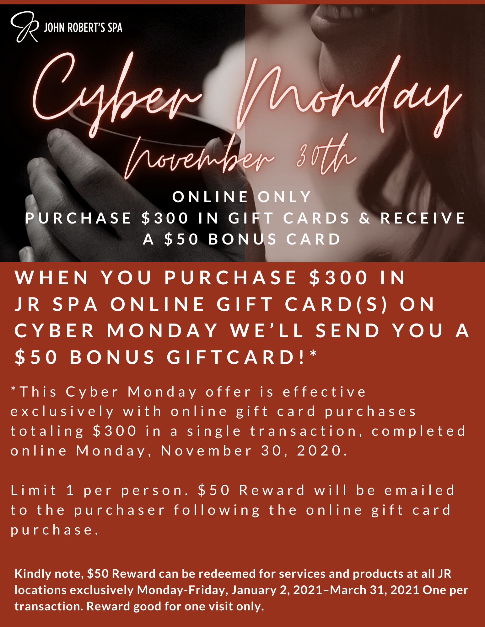 Cyber Monday Spa Gift Card Offer